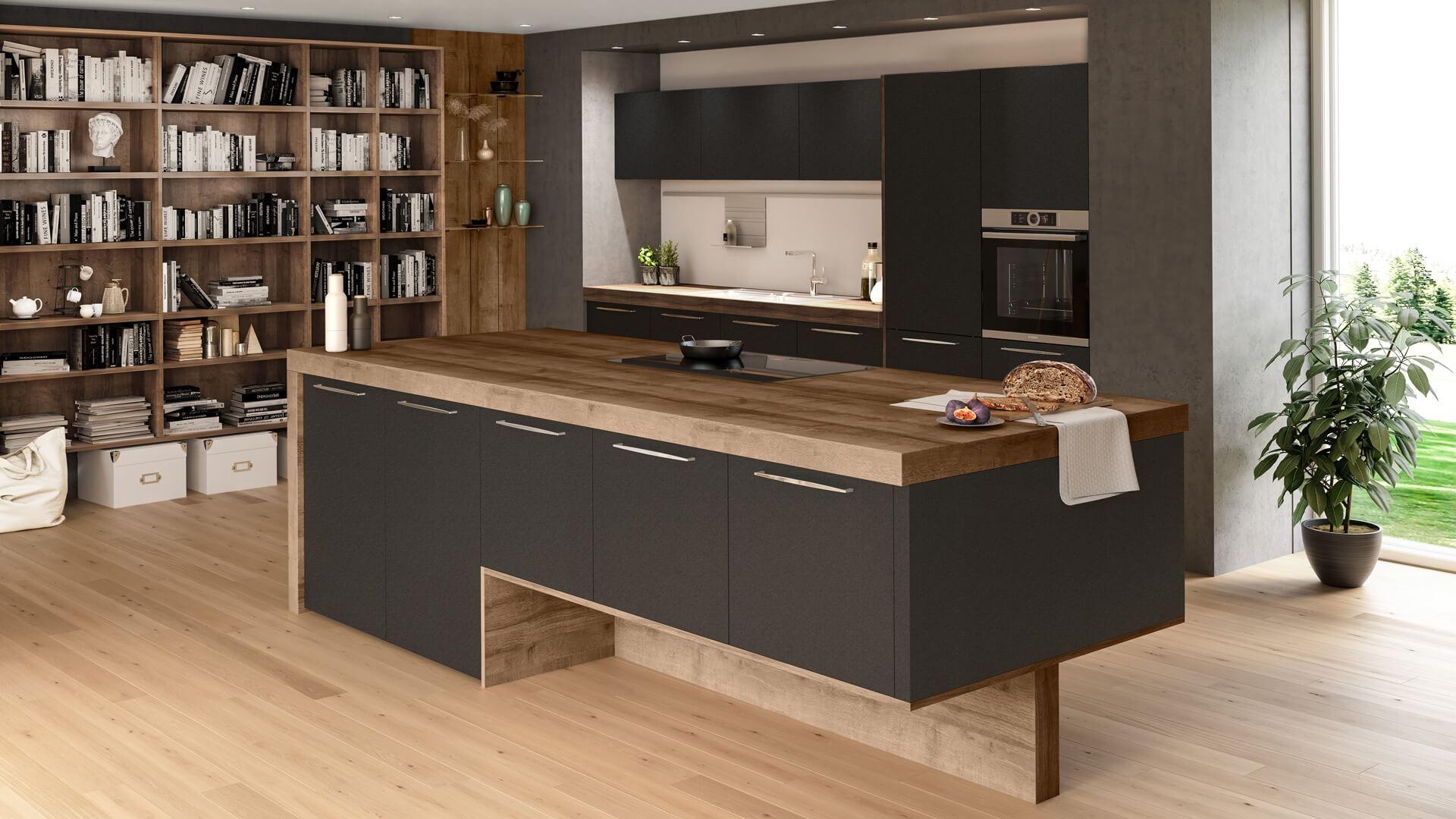 Die Wohnküche Oxana, auch sehr gut als Single-Küche geeignet..